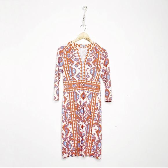 J. McLaughlin Lola Dress Ikat Catalina Cloth XS